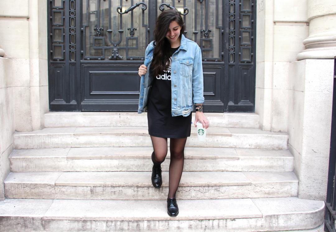 robe-noire-adidas-lenaelle