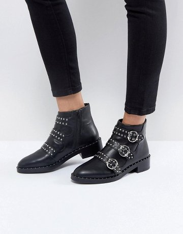 Bottines Noires Cloutees Asos