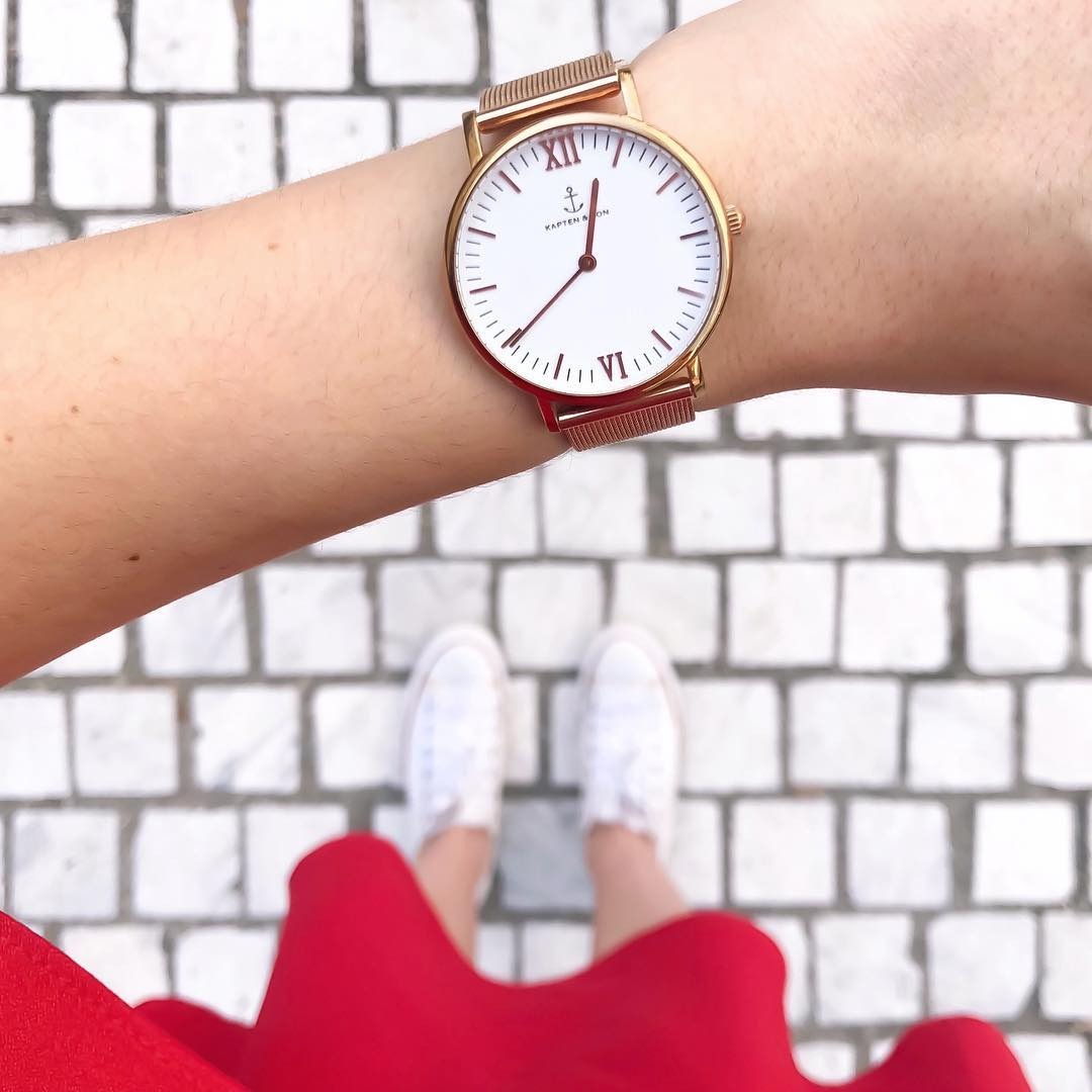 Montre Kapten Son Or Rose Mesh Lenaelle