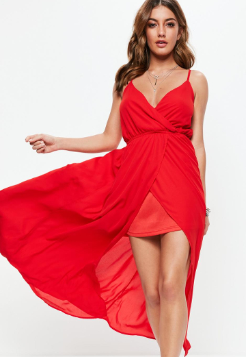 Robe Longue Rouge Missguided Lenaelle
